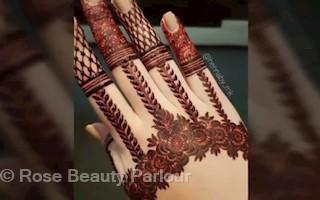 rose beauty parlor mehndi designs