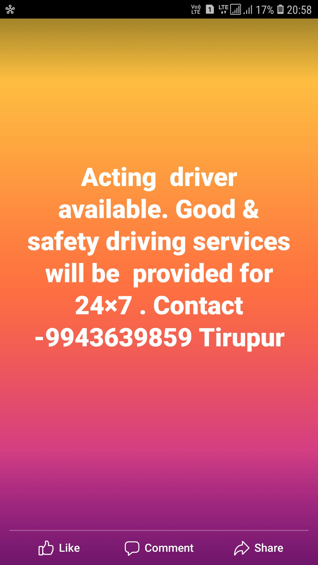 Call Drivers in Tirupur Acting Drivers for Hire | Sulekha