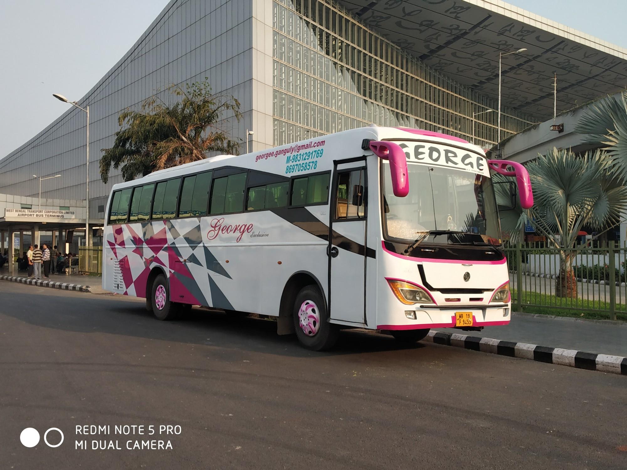 35, 36, 40, 54, 55 seater Bus Rental in Kolkata, Chartered