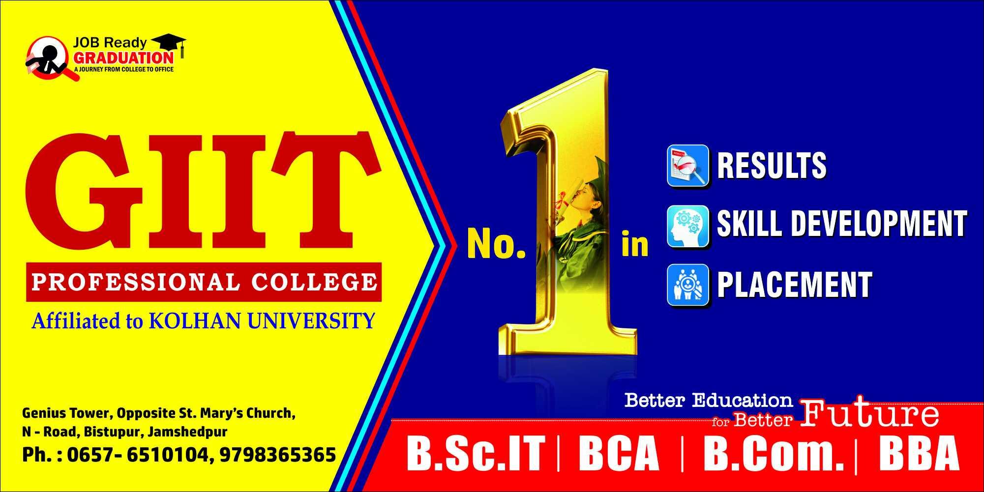 GIIT Professional College in Bistupur, Jamshedpur-831001