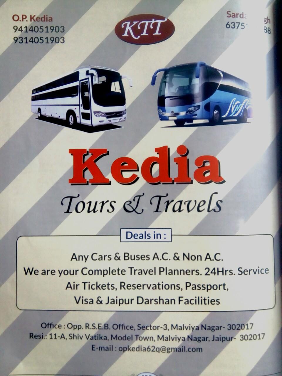 Kedia Tours Travels In Malviya Nagar Jaipur 302017 Sulekha Jaipur