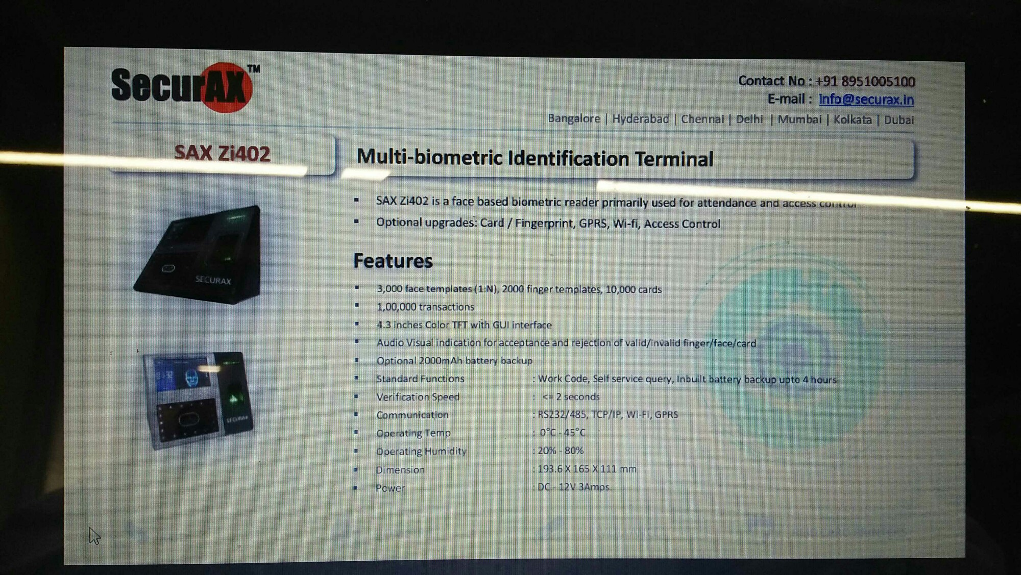Top 10 Biometrics Attendance System Dealers in Bangalore