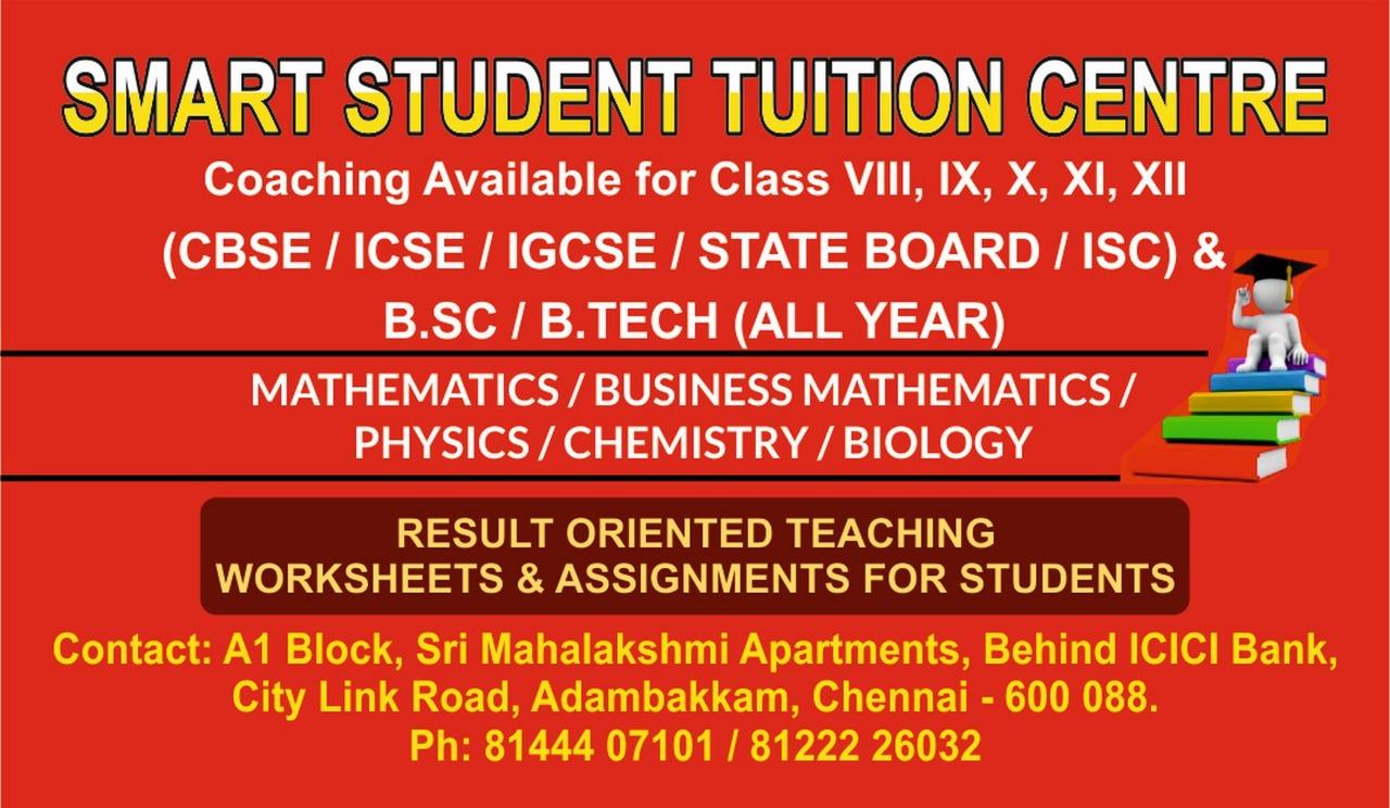 CBSE Maths Tuition Centres in Adambakkam, Chennai, Tutors | Sulekha