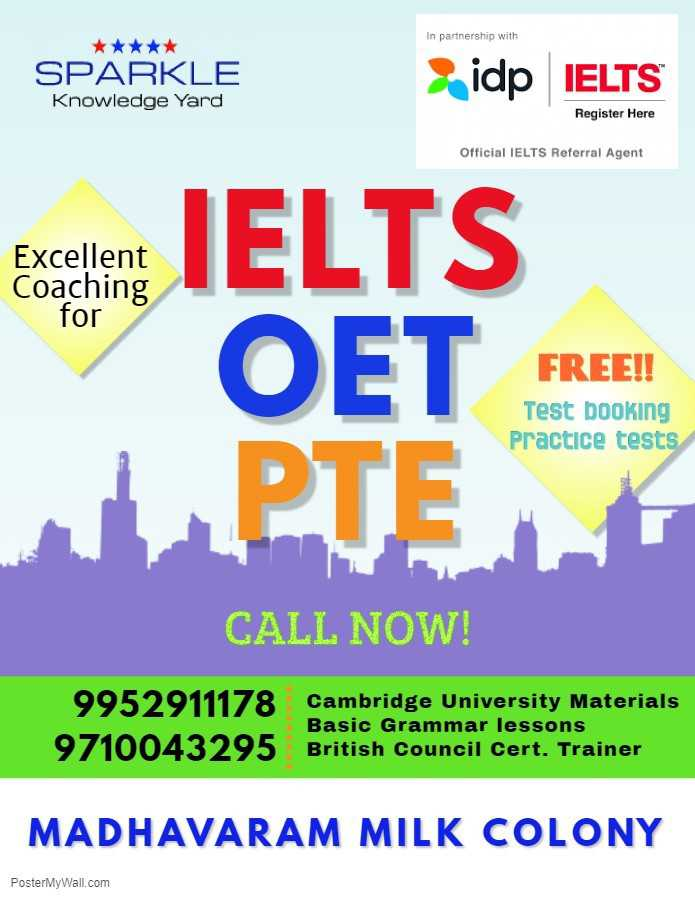 Sparkle Knowledge Yard for IELTS coaching in Madhavaram Milk