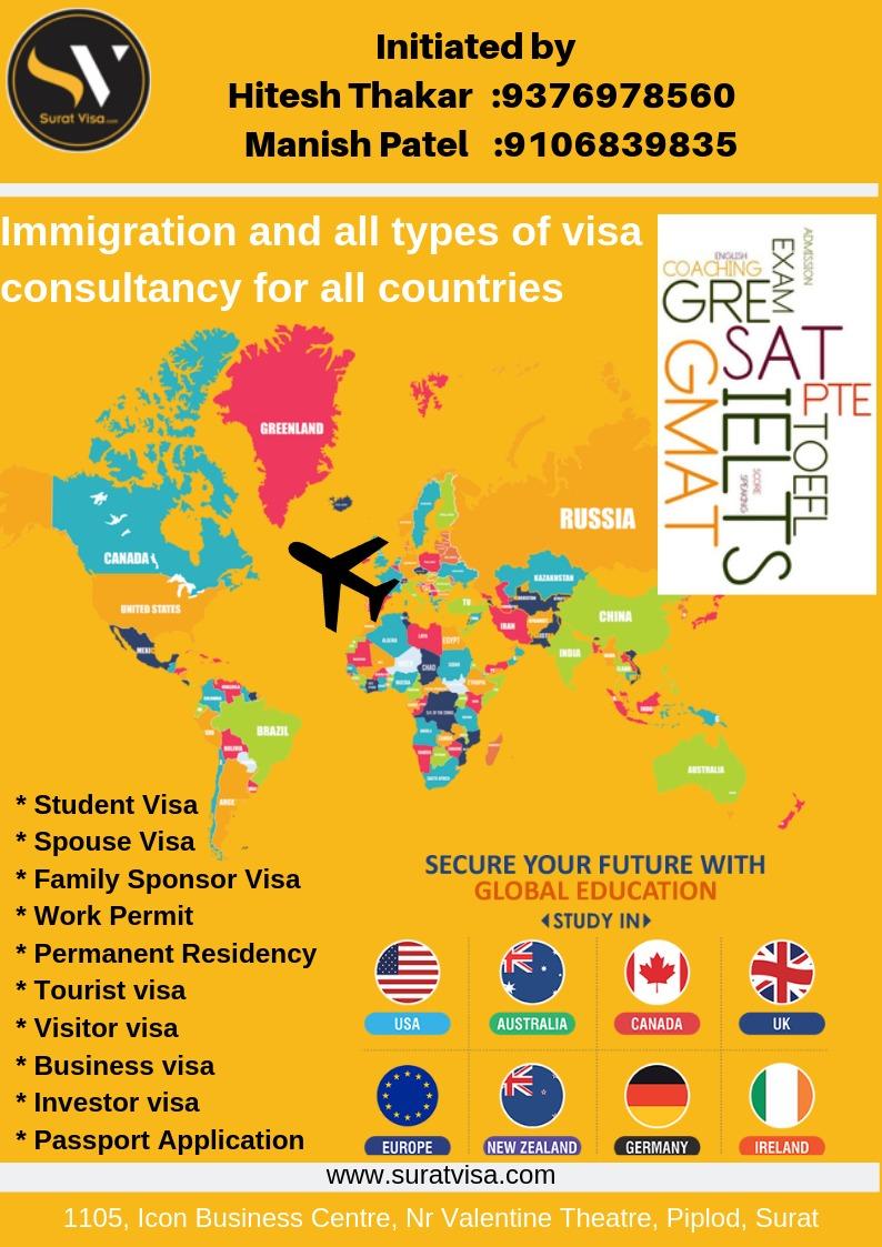 Top 10 Work Visa Agents in Surat, Employment Visa