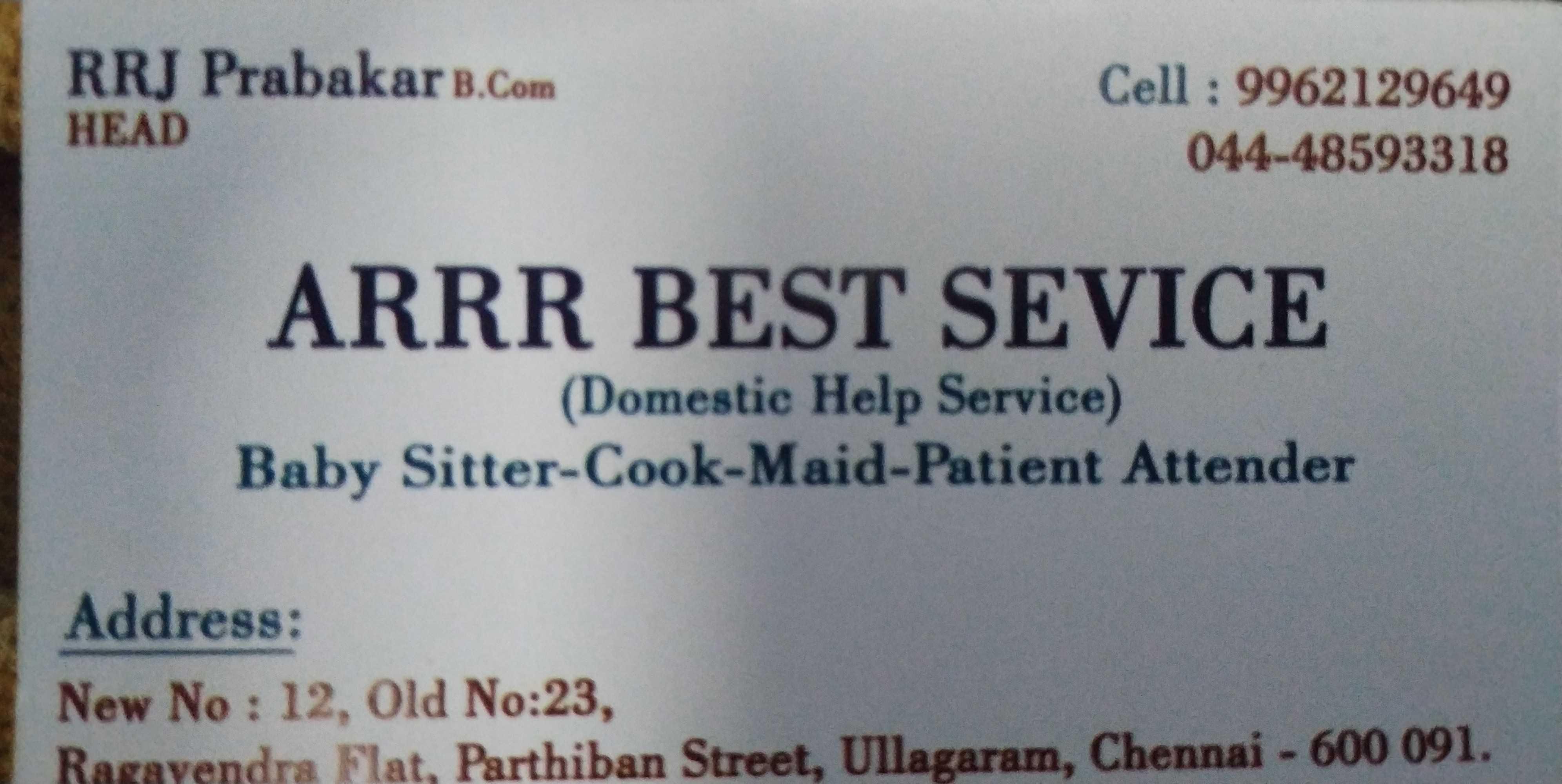 ARRR Best Service in Ullagaram, Chennai-600091 | Sulekha Chennai