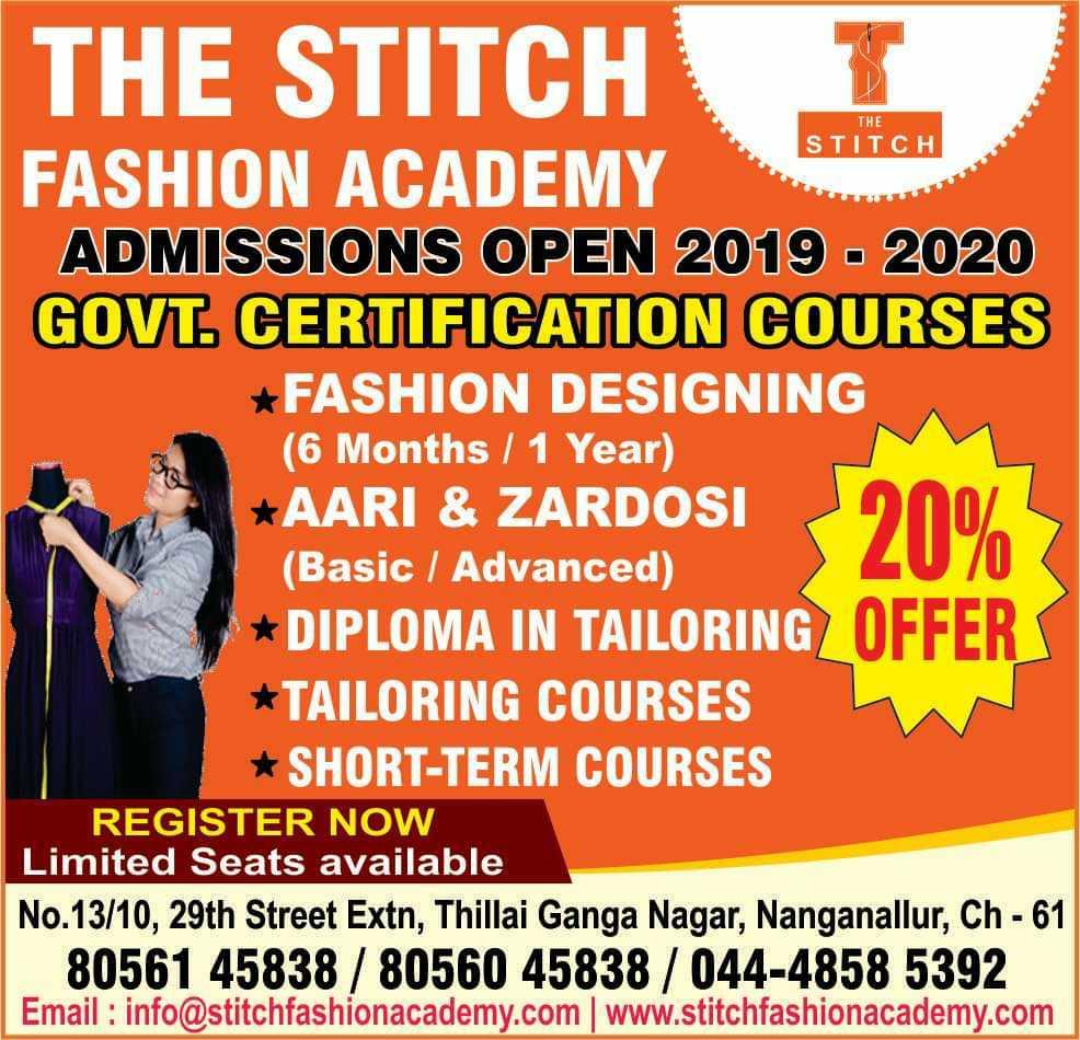 The Stitch Fashion Academy In Nanganallur Chennai 600061 Sulekha Chennai