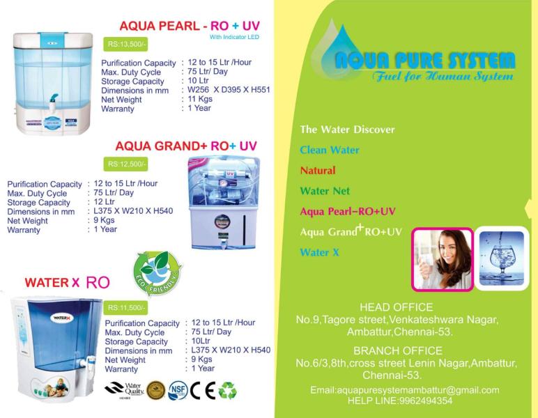 Aqua Pure System in Ambattur, Chennai-600053 | Sulekha Chennai