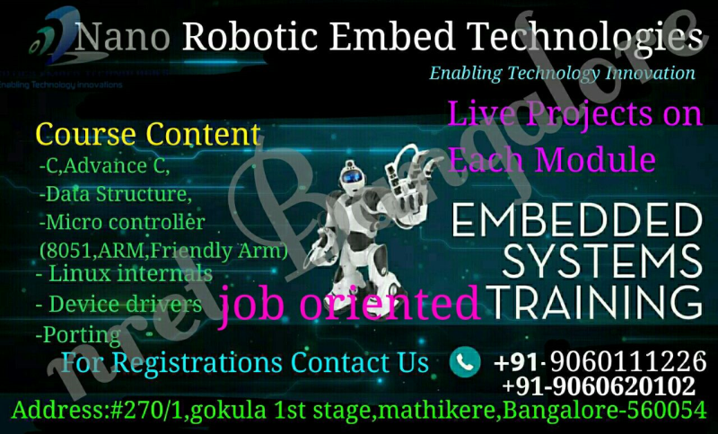 Embedded Systems Training in Bangalore, Classes, Courses, Institutes