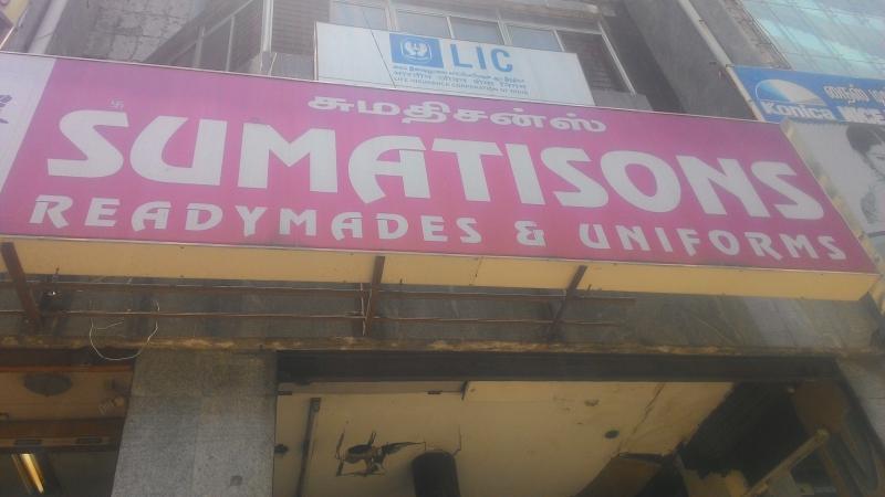 de46bff112163f Sumatisons Readymades & Uniforms in Purasawalkam, Chennai-600007 ...