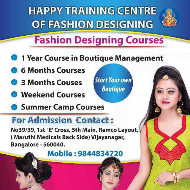 Happy Training Center Of Fashion Designing In Akshayanagar Bangalore 560040 Sulekha Bangalore