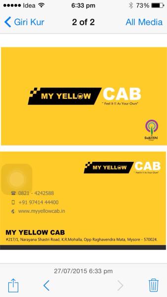 My Yellow Cab in Krishna Raja Mohalla, Mysore-570024
