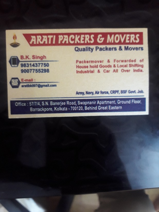 Arati Packers & Movers in Barrackpore, Kolkata-700120