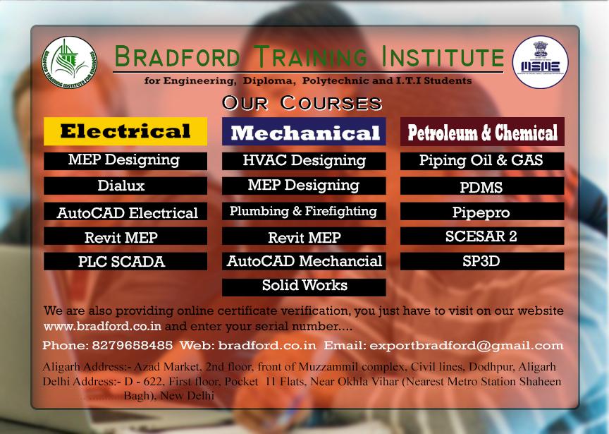 BRADFORD TRAINING INSTITUTE FOR ENGINEERS in Dodhpur, Aligarh-202001