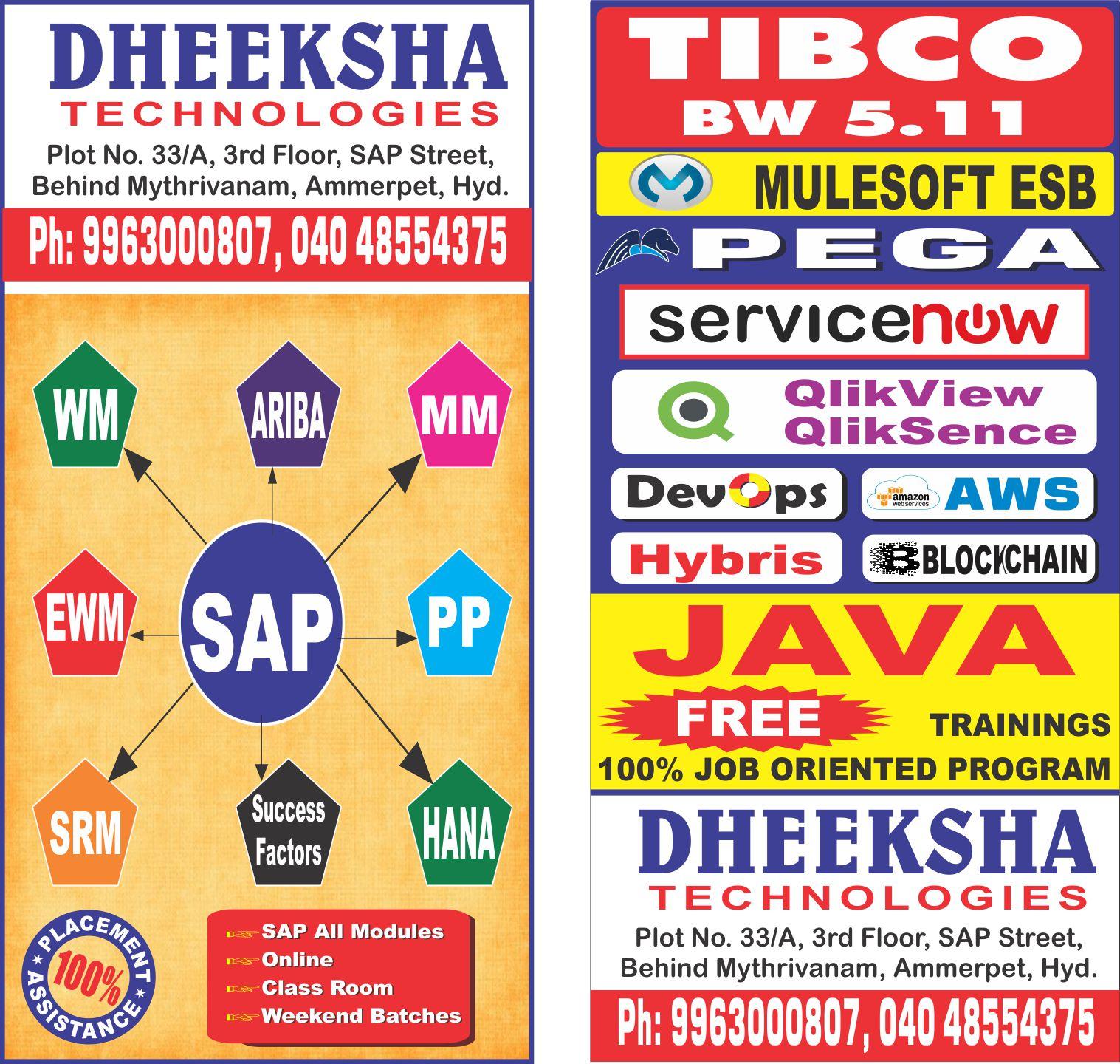 Deeksha Technologies in Ameerpet, Hyderabad-500016 | Sulekha Hyderabad