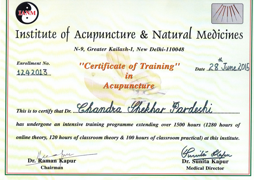 Dr  Pardeshi Acupuncture Pain Therapy Centre in Ganjmal