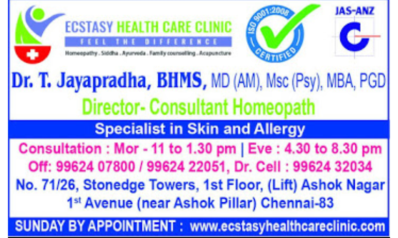 Best Homeopathy Doctors in Chennai, Homeopathic Clinics in