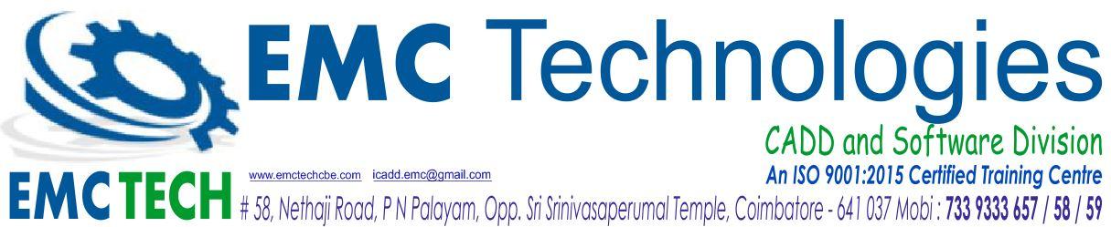 AutoCAD Course in Coimbatore, AutoCAD Training in Coimbatore