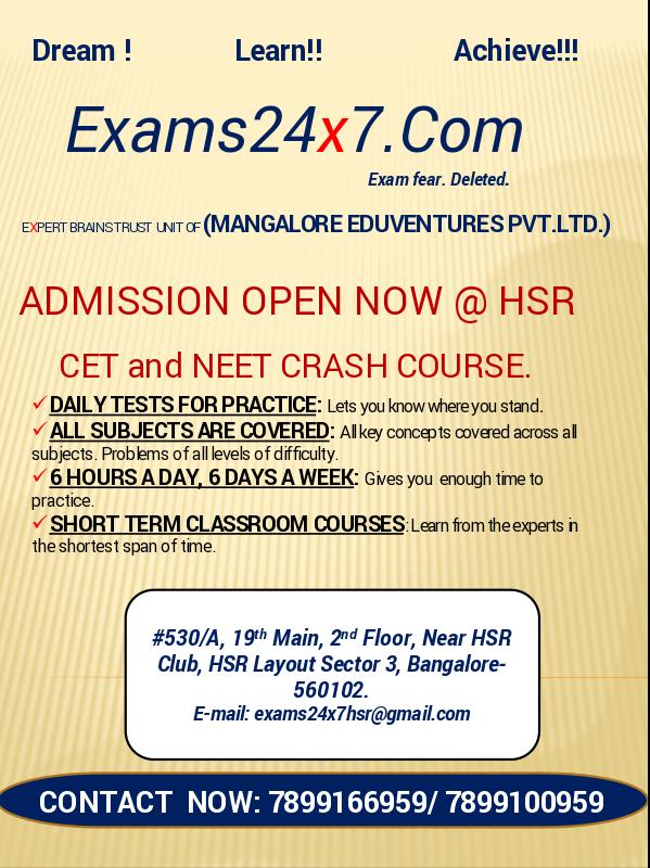 CET Exam Coaching Classes in Electronic City, Bangalore