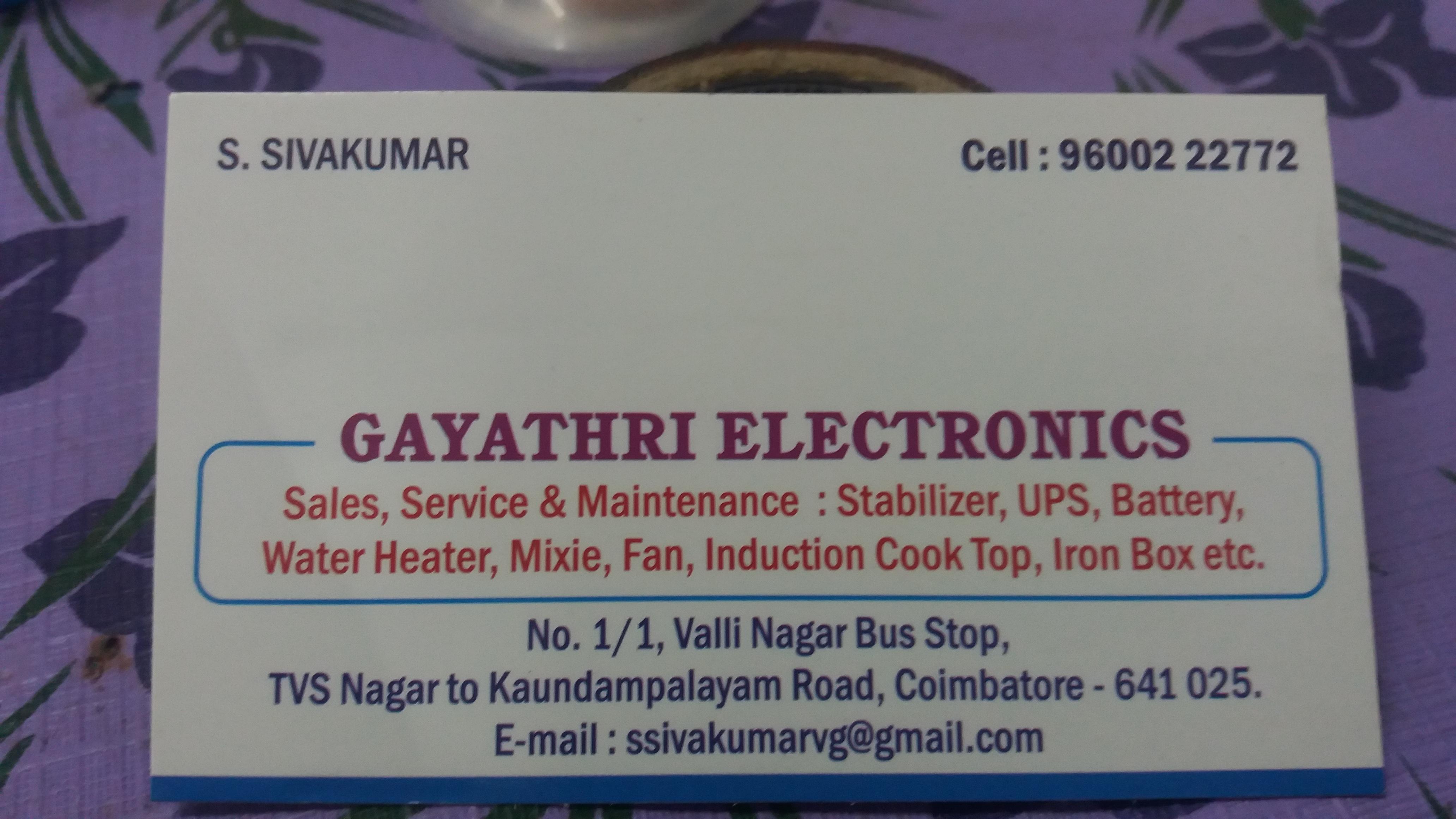 Gayathri Electronics in Koundampalayam, Coimbatore-641025