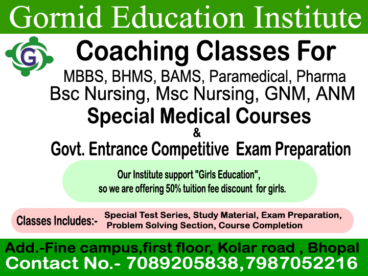 BHMS Coaching Classes in M P  Nagar, Bhopal | Sulekha Bhopal