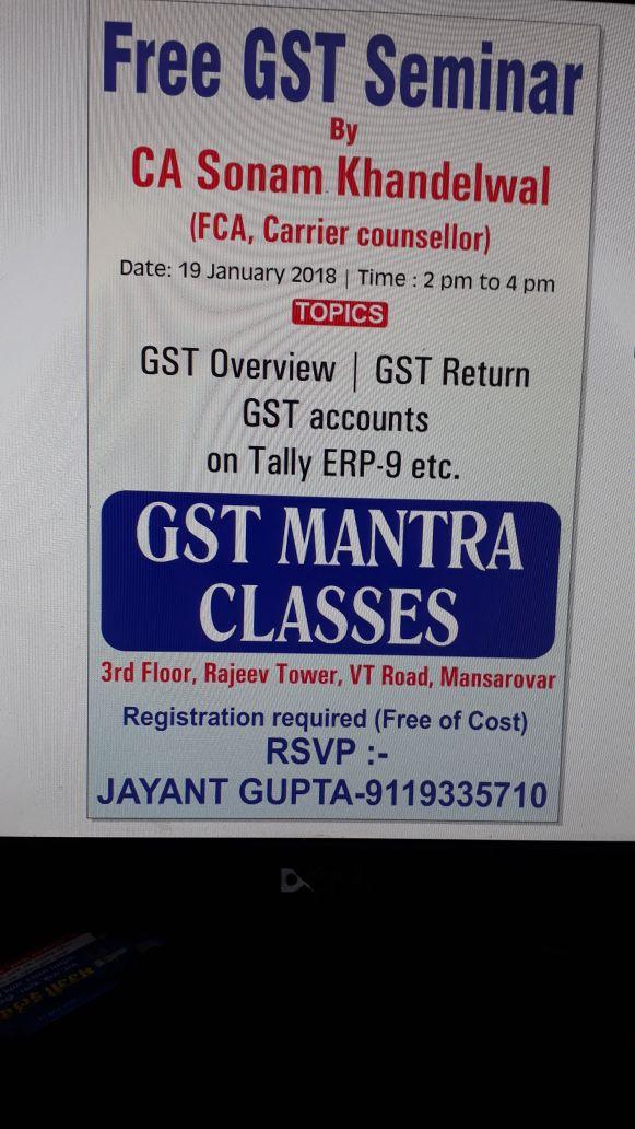 GST Mantra Classes in Mansarovar, Jaipur-302020 | Sulekha Jaipur