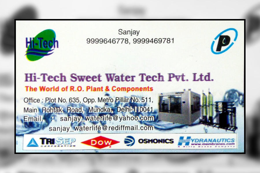 Hi Tech Sweet Water Tech Pvt  Ltd  in Mundka, Delhi-110041 | Sulekha