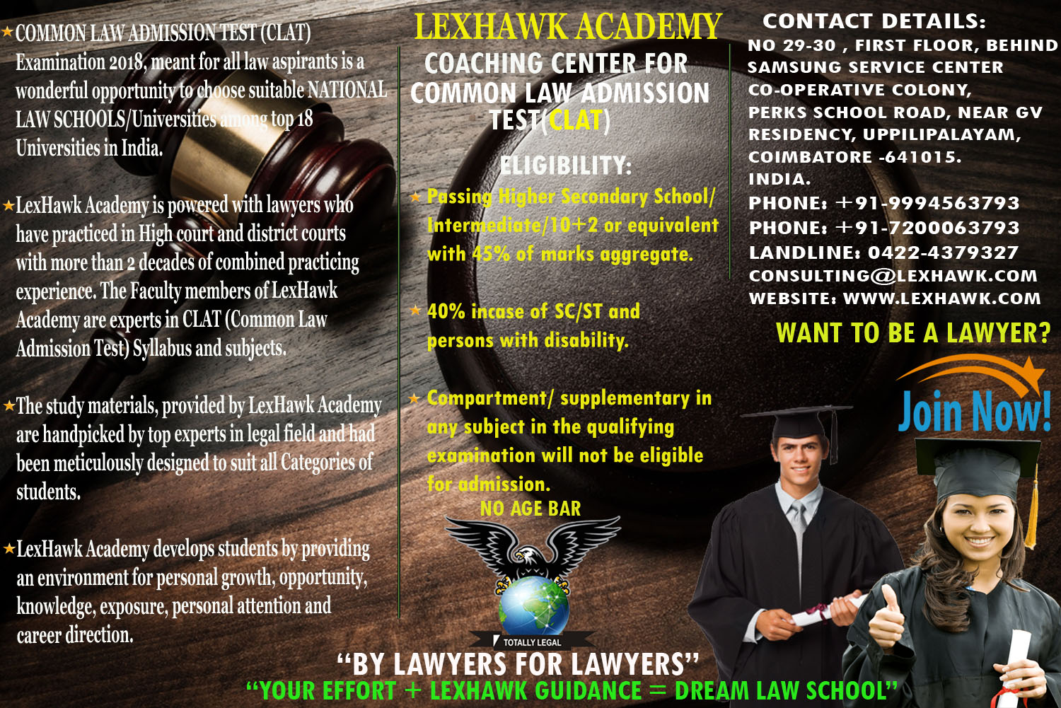 Law Entrance Exam Coaching in Coimbatore, Classes, Centres