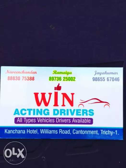 Drivers in Ponmalai, Trichy, Drivers on Hire   Sulekha Trichy