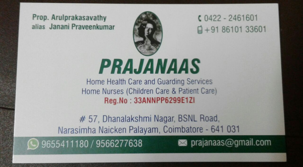 Prajanaas Home Health Care and Guarding services (Regd ) in