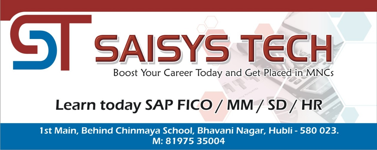 SAP FICO Training in Hubli, SAP FICO Course in Hubli