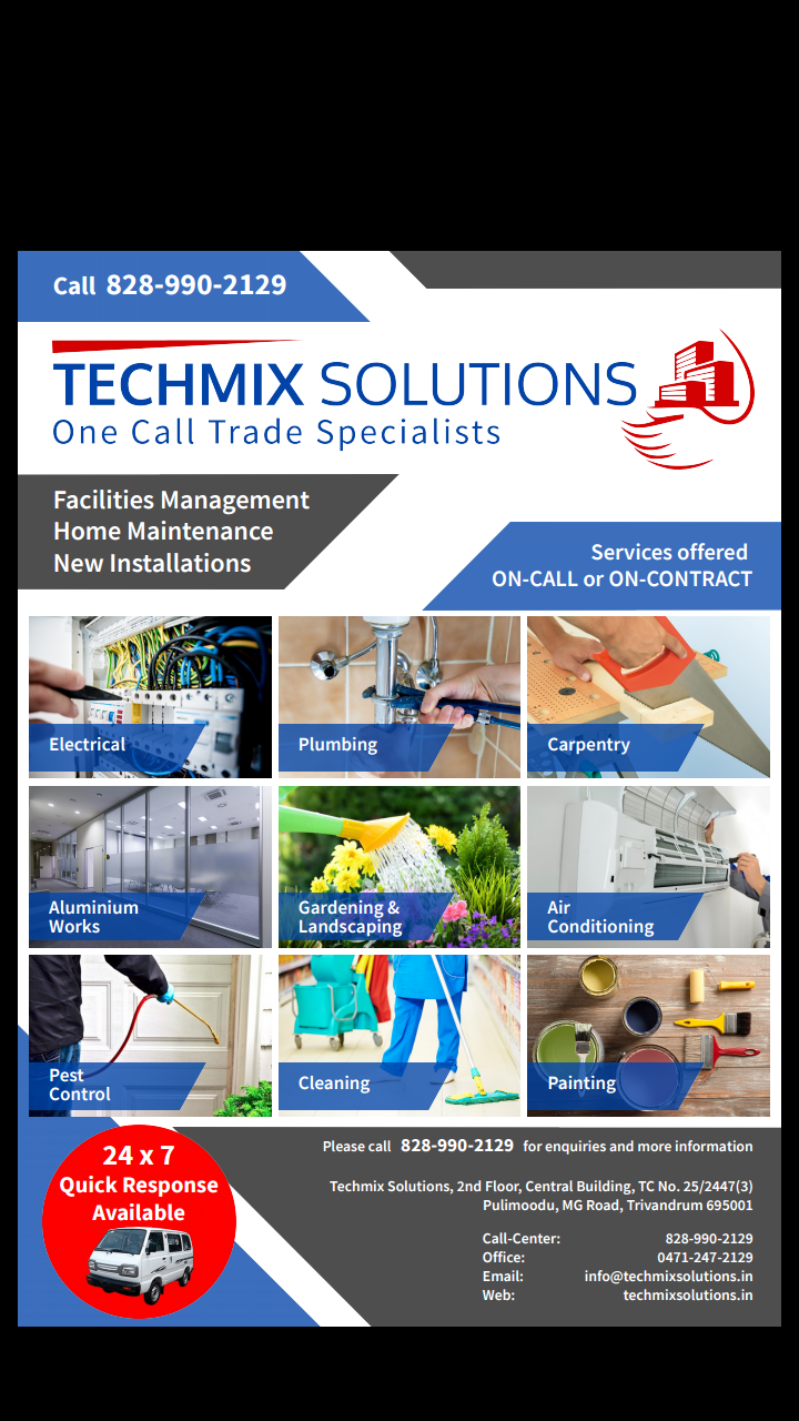 Techmix Solutions in Pulimoodu, Trivandrum-695001 | Sulekha