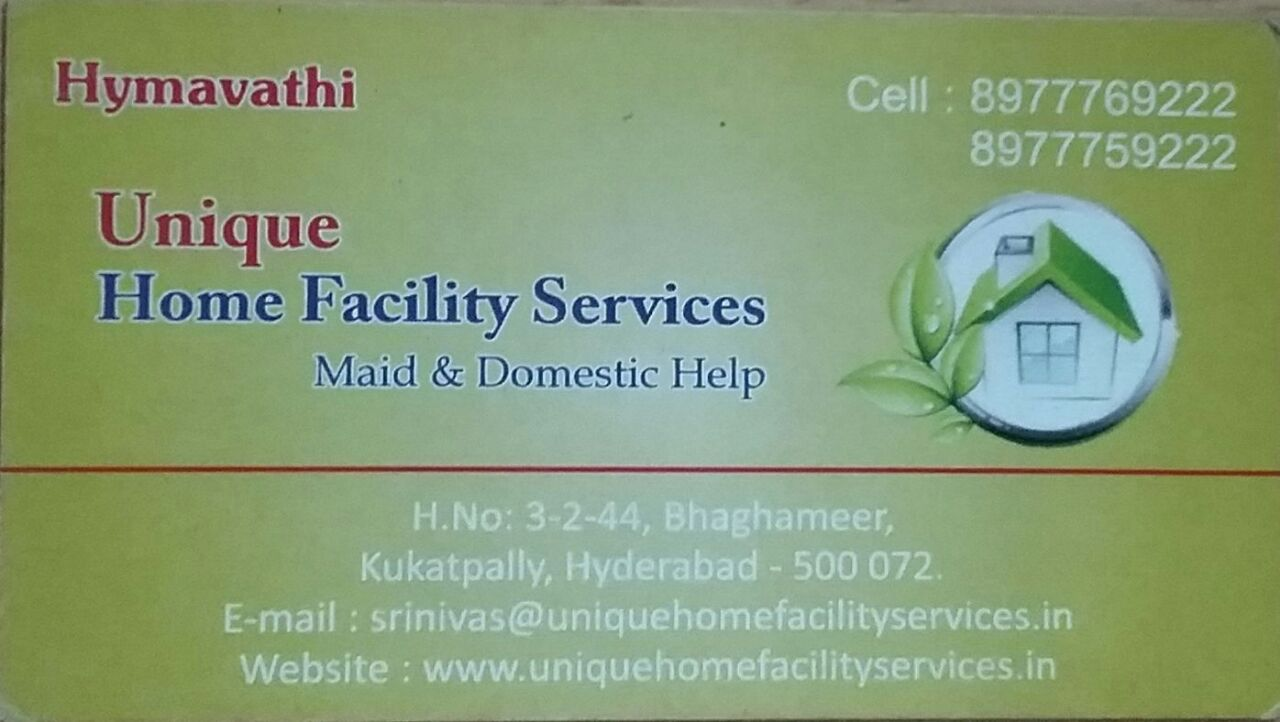 Unique Home Facility Services in Kukatpally, Hyderabad-500072