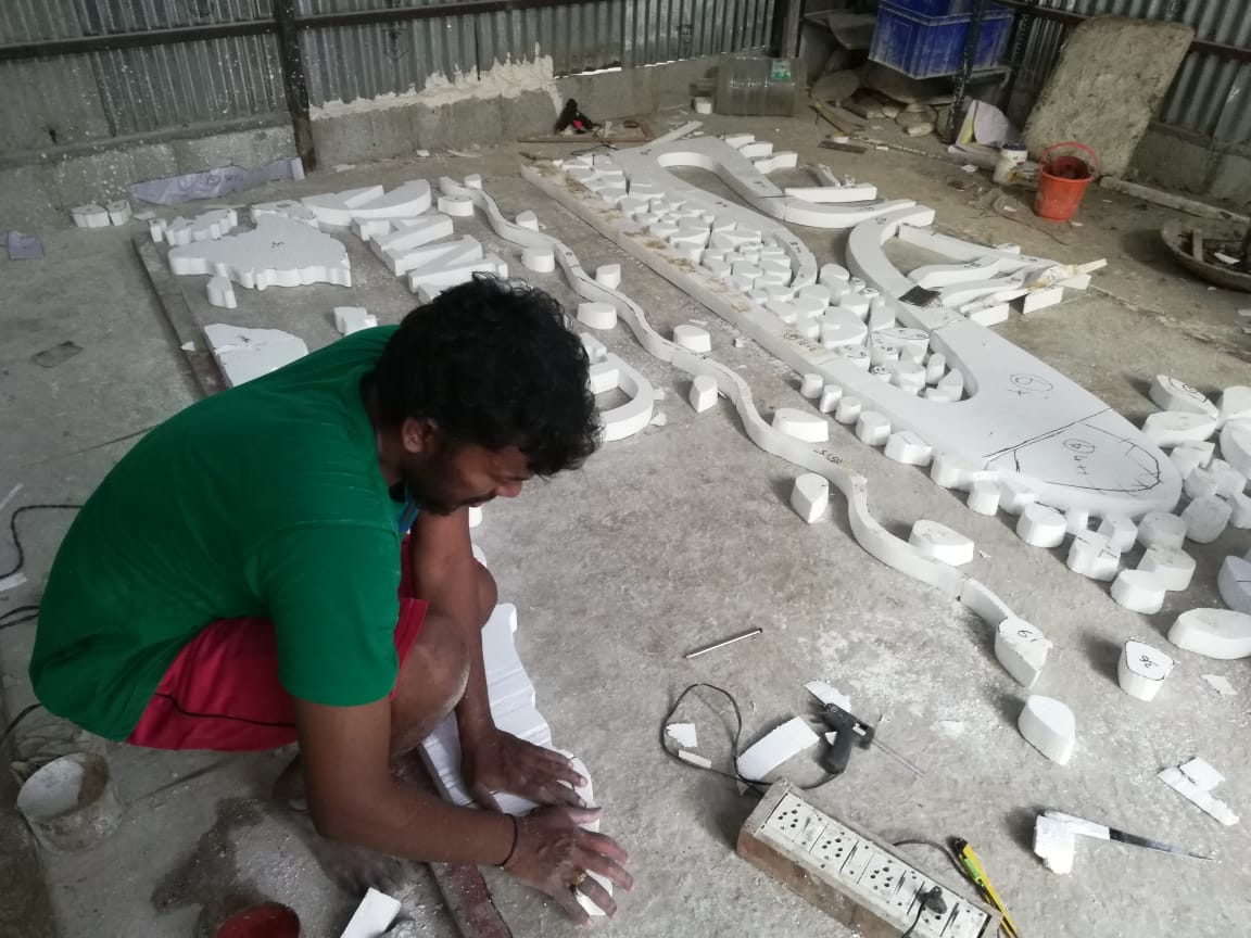 Thermocol Carving in Chennai, Thermocol Art Cutting Services